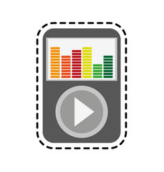 music player icon image vector image