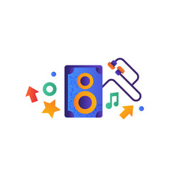 music speaker and earphones musical sound vector image