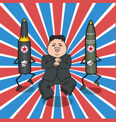 north korean style vector image