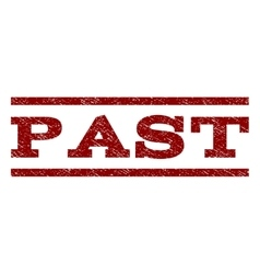 Past watermark stamp vector