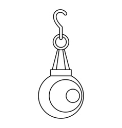 Pearl pendant icon outline style vector