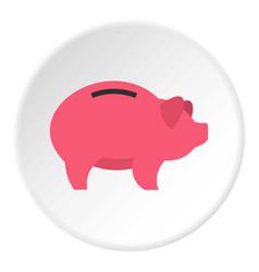 Piggy icon circle vector