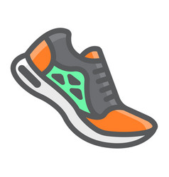 running shoes filled outline icon fitness vector image
