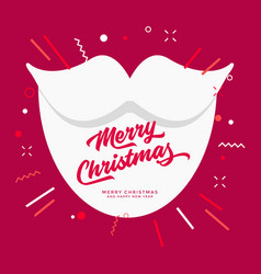 santa white beard christmas greetings vector image