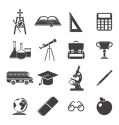 School Black Icon Set vector