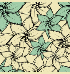 seamless summer tropical background with exotic vector image
