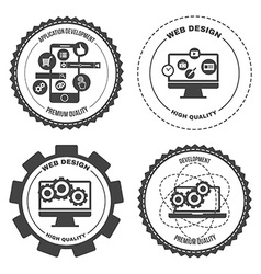 Set of icons web mobile services apps vector