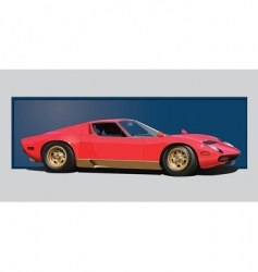 sixties sports car vector image