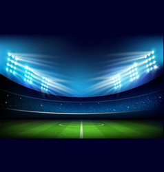 Soccer field with stadium 001 vector