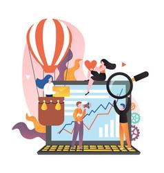 social media marketing concept for web vector image