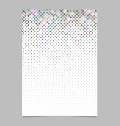 square pattern flyer template - tile mosaic page vector image