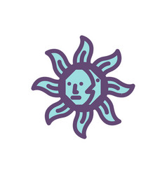 sun magic logo icon design vector image