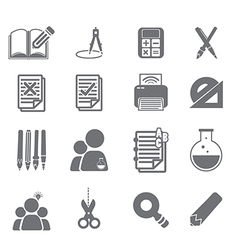 Tools learning icon set 2 vector