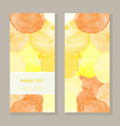 Watercolor yellow greeting card vector