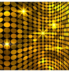 Wavy golden mosaic background vector image