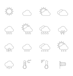Weather Icons Line vector