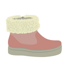 winter woman shoe icon flat style vector image