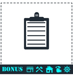 Contract icon flat vector