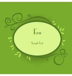 Eco card vector image vector image