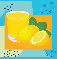 lemon juice on a background vector image