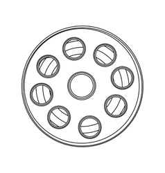 Monochrome contour with cinematography tape vector
