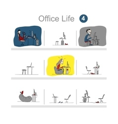 Programmers at work office life sketch for your vector image