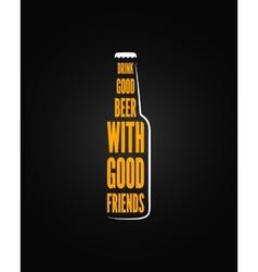 beer bottle design background vector image