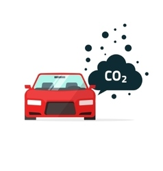 co2 emissions car carbon vector image vector image