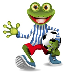 frog football player vector image