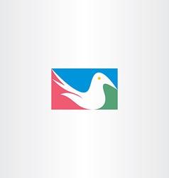 white dove logo icon design vector image vector image