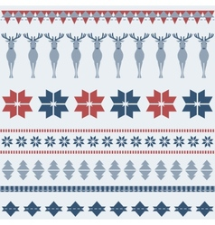 Winter ornamental pattern with deer vector image vector image