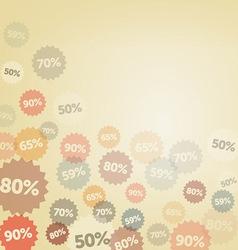 Yellow Discount Background vector image vector image