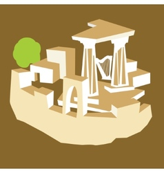 Ancient ruins vector image