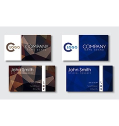 Business cards templates in the style of the vector image vector image