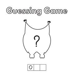 Cartoon owl guessing game vector