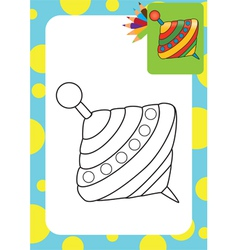 Humming-top whirligig vector image vector image