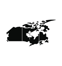 Map of Canada icon simple style vector image