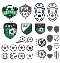 Set of football soccer emblem design elements vector image vector image