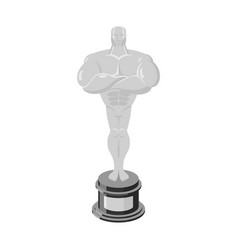 Silver statue award for third place statue vector