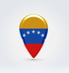 Venesuela icon point for map vector image