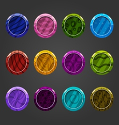 Cartoon shiny bubbles-2 vector image vector image
