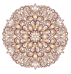 mandala pattern in the stained glass style vector image