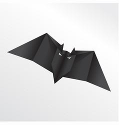 origami bat vector image
