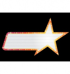 star shape neon vector image