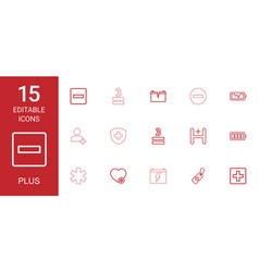 15 plus icons vector image