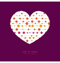 abstract colorful stripes and shapes heart vector image