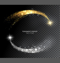 Abstract shiny color gold and silver design vector
