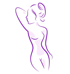 Abstract spa woman body isolated on white vector