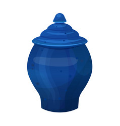 antique classical vase in bright blue color vector image