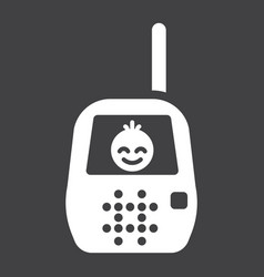 baby monitor solid icon mobile and child control vector image